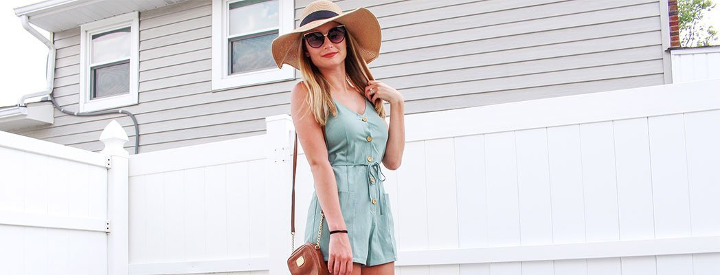 Buttons and rompers, two fabulous summer trends