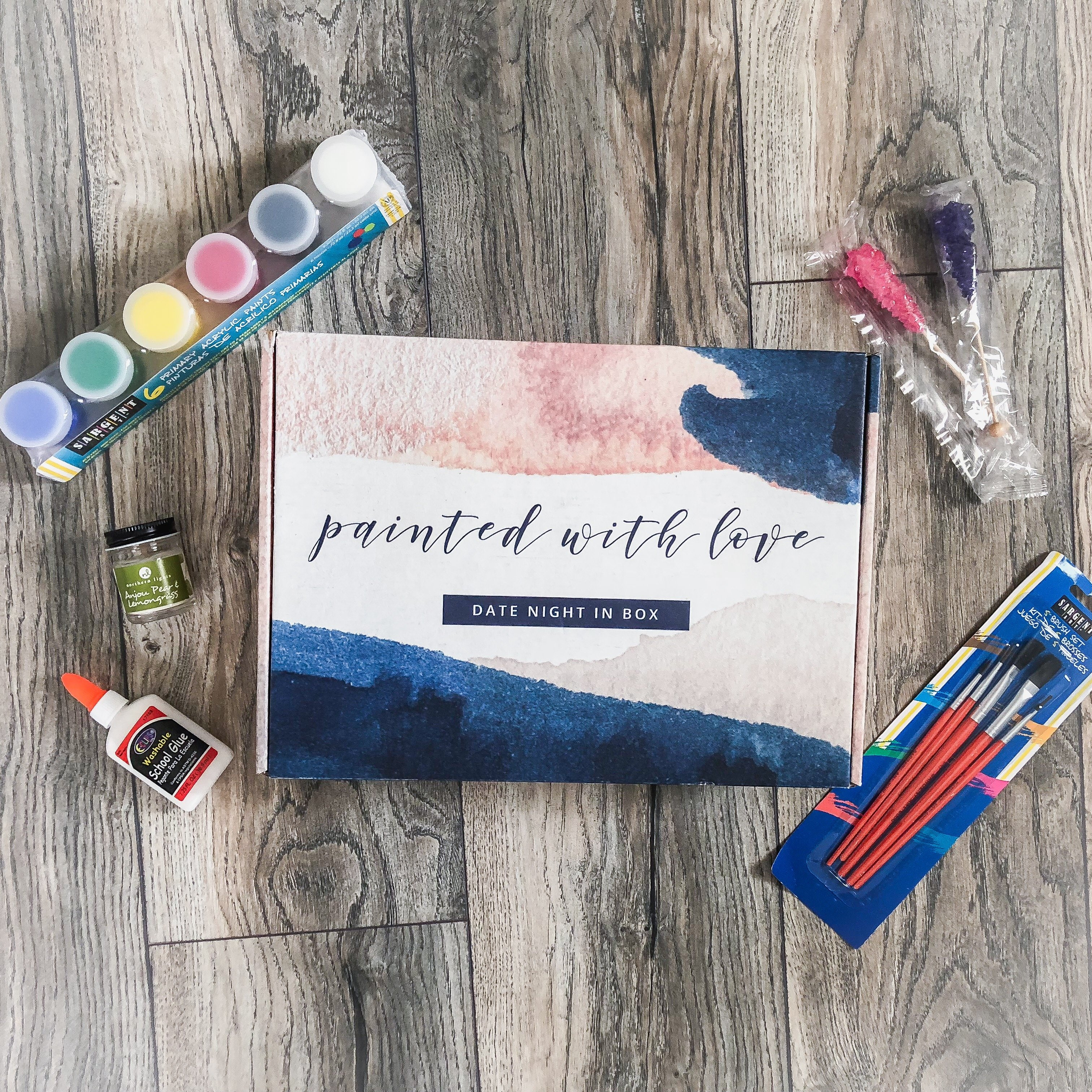 Getting creative with this month's Date Night In Box