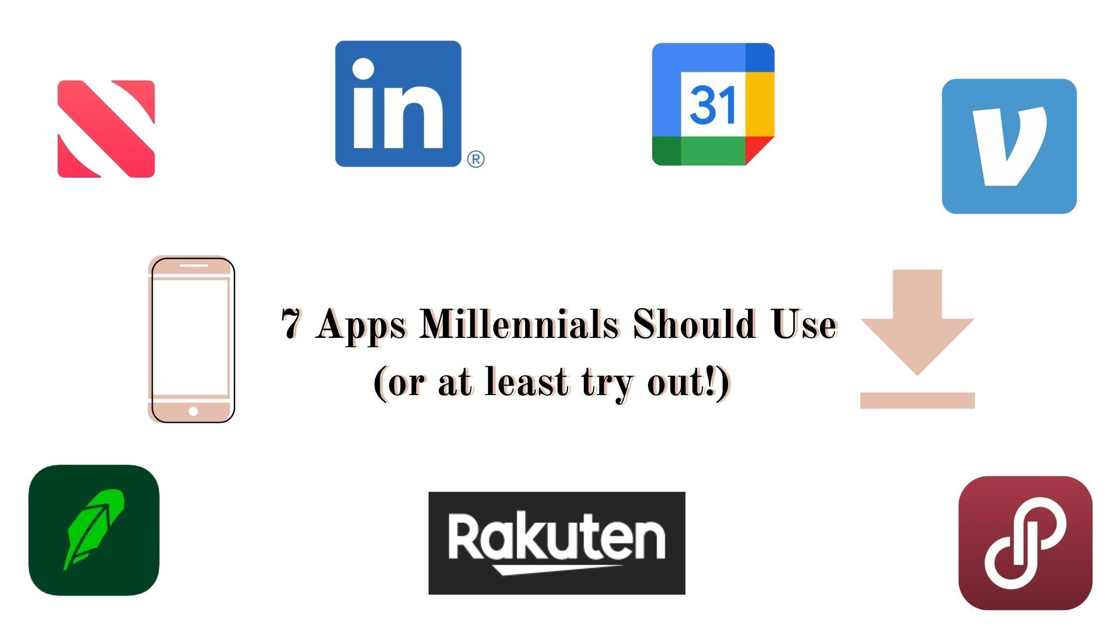 apps millennials should use