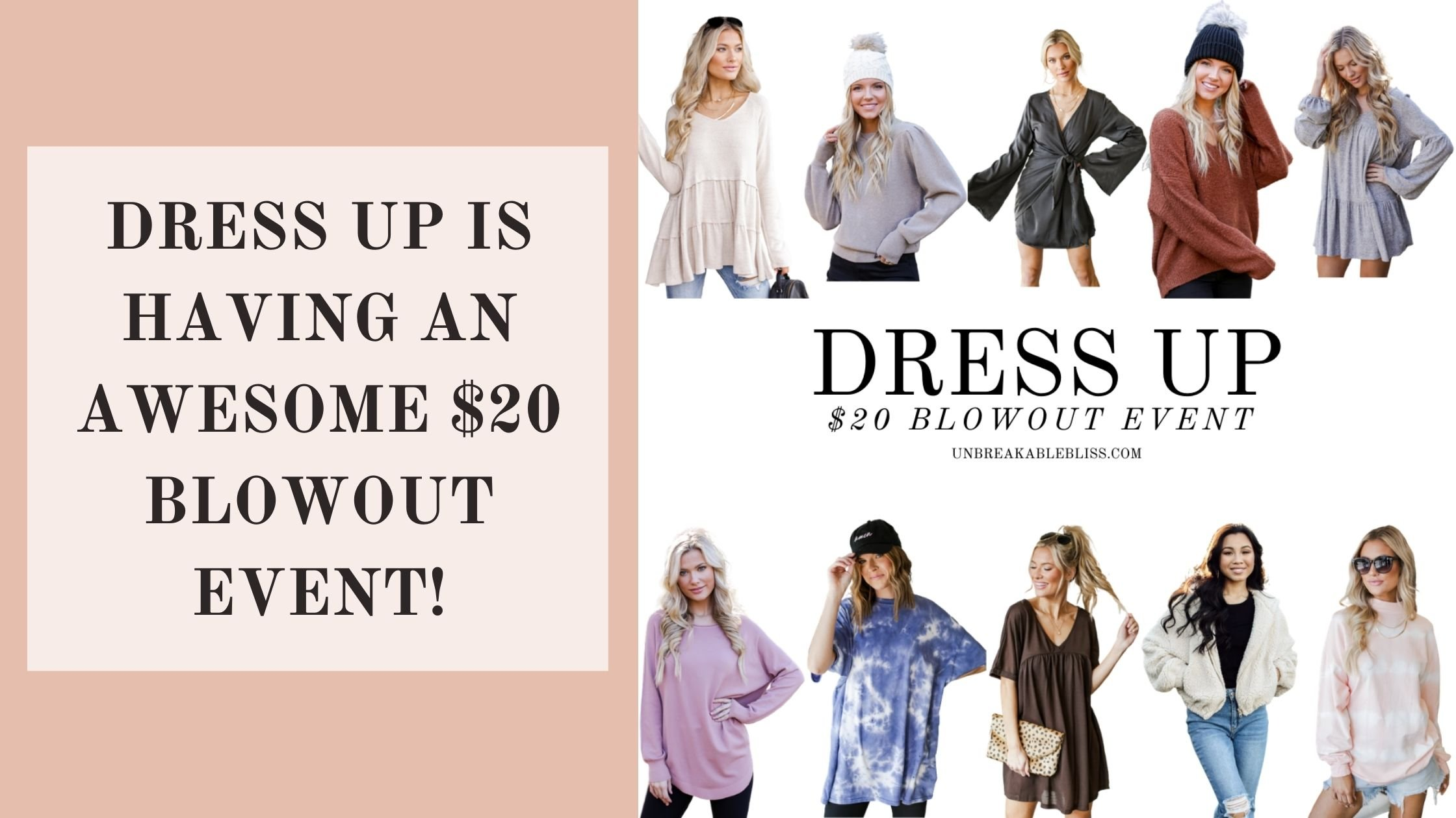 Dress Up Is Having An Awesome $20 Blowout Event