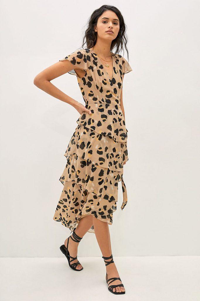 Anthropologie Leopard Dress