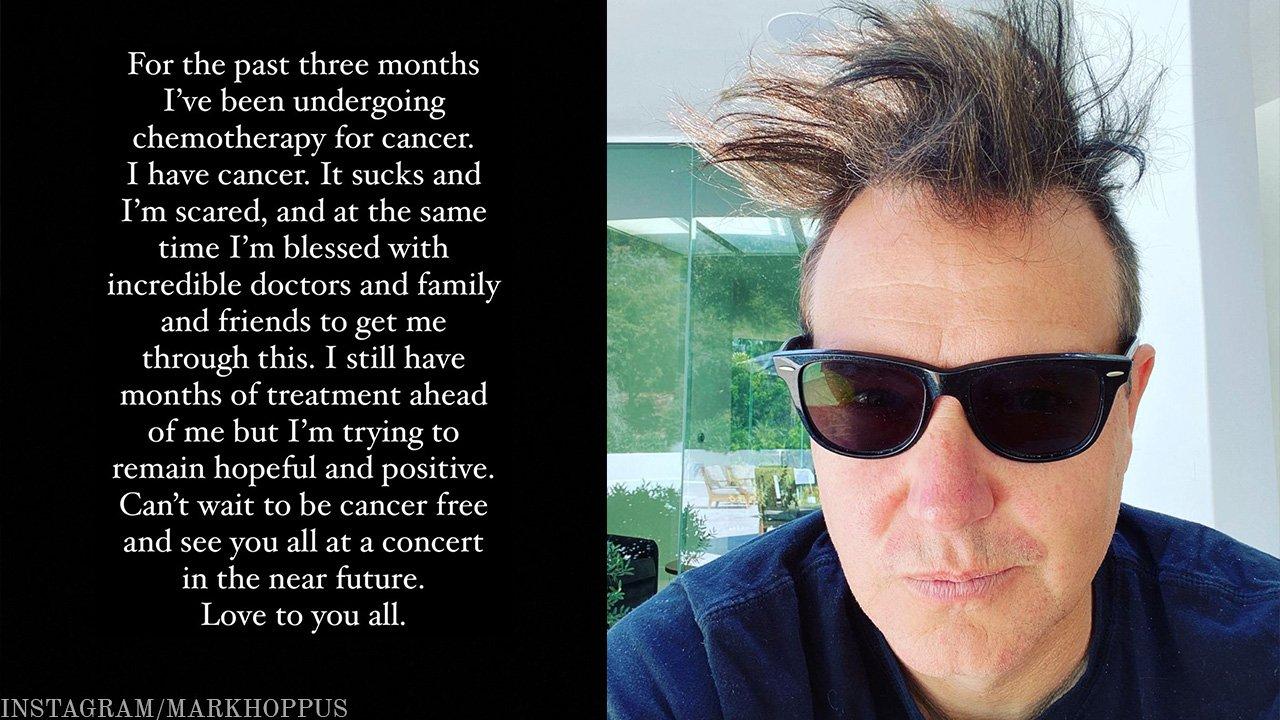 Mark Hoppus of Blink-182 Reveals He's Been Battling Cancer