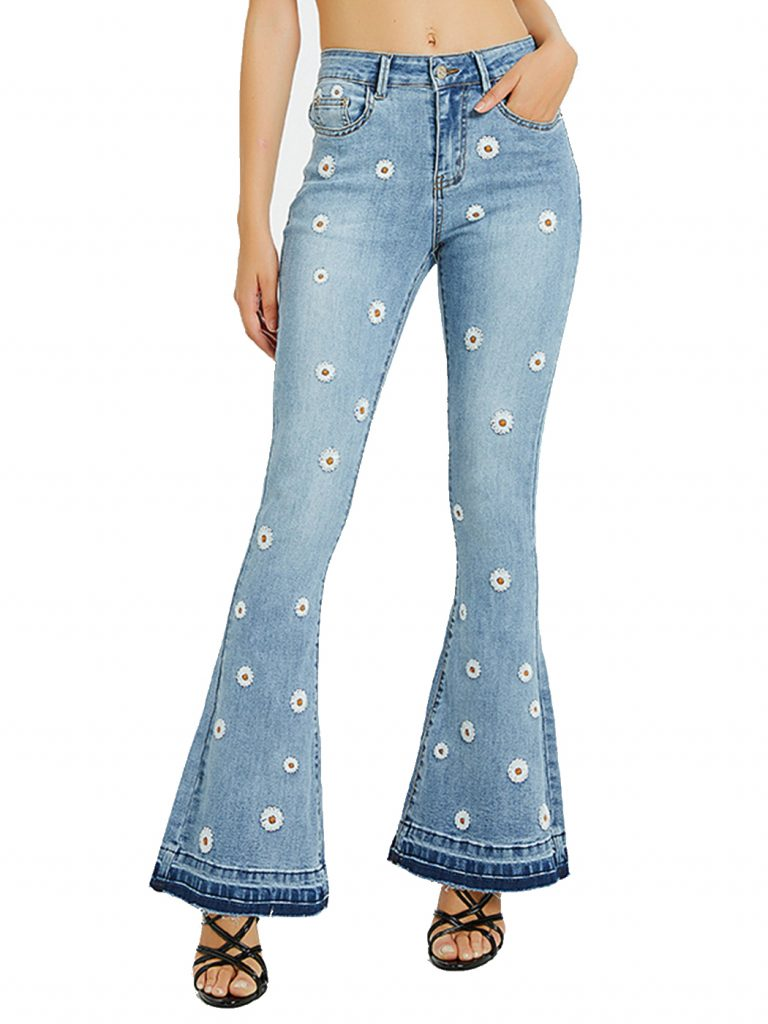 Walmart floral print jeans