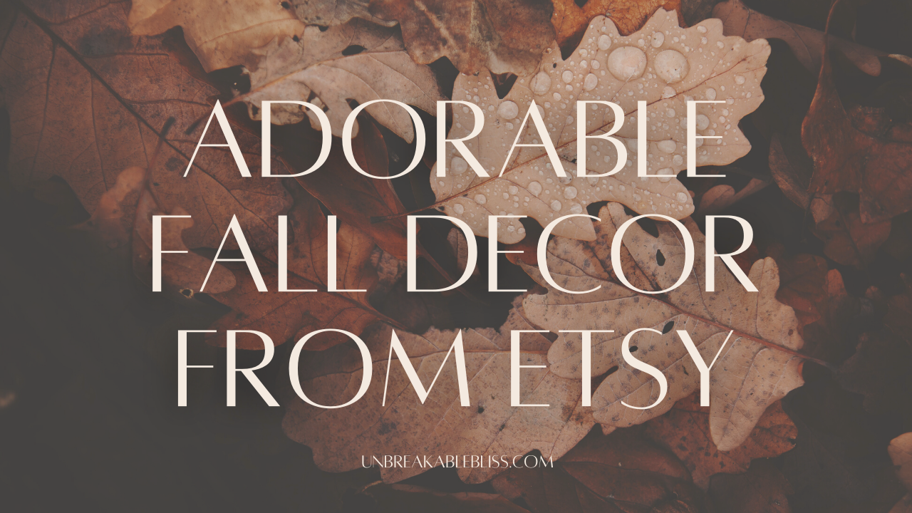 Adorable Handmade Fall Decor From Etsy