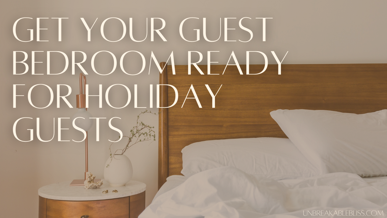 Get Your Guest Bedroom Ready For Holiday Guests With These Pieces